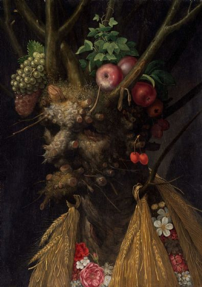 Arcimboldo, Giuseppe: Four Seasons in One Head. Fine Art Print/Poster. Sizes: A4/A3/A2/A1 (004096)